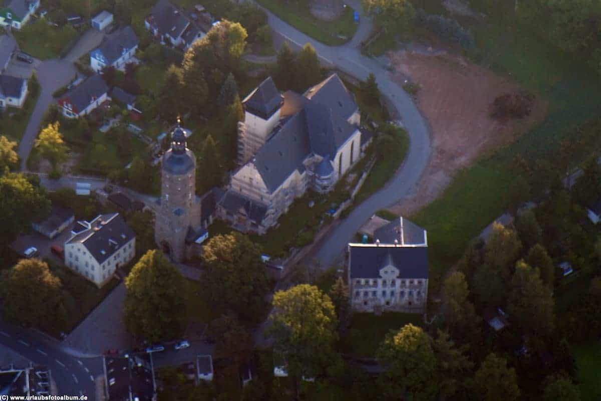 Luftbild Wachturm Kirche Lotterhof