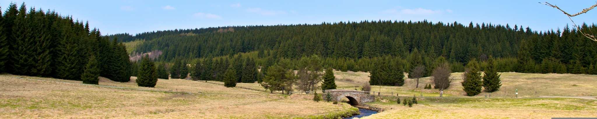 Panorama aus dem Schwarzwassertal im Erzgebirge