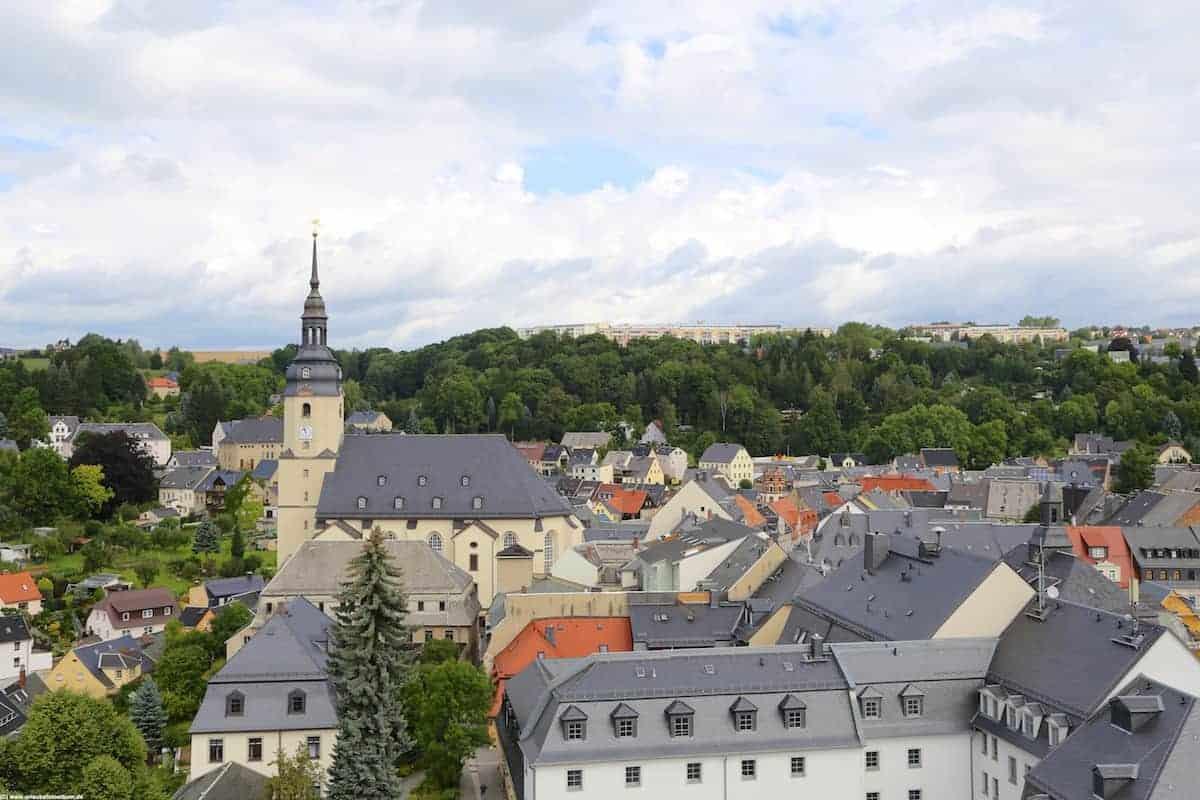 Aussicht vom Bergfried Dicker Heinrich auf Zschopau