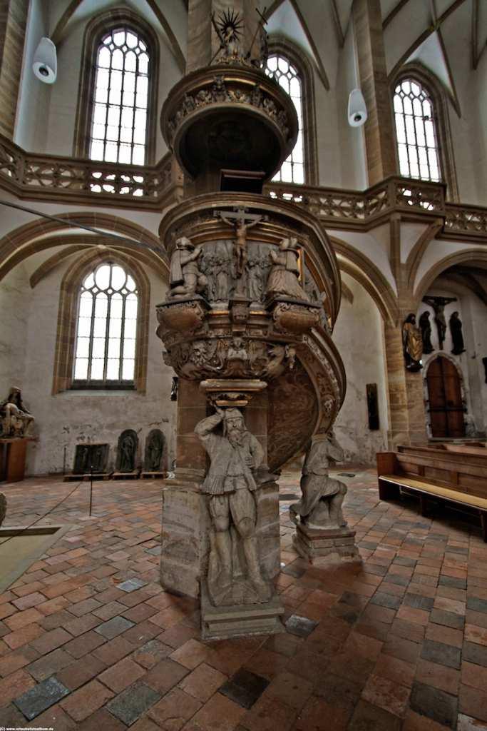 die Bergmannskanzel im Dom St. Marien in Freiberg