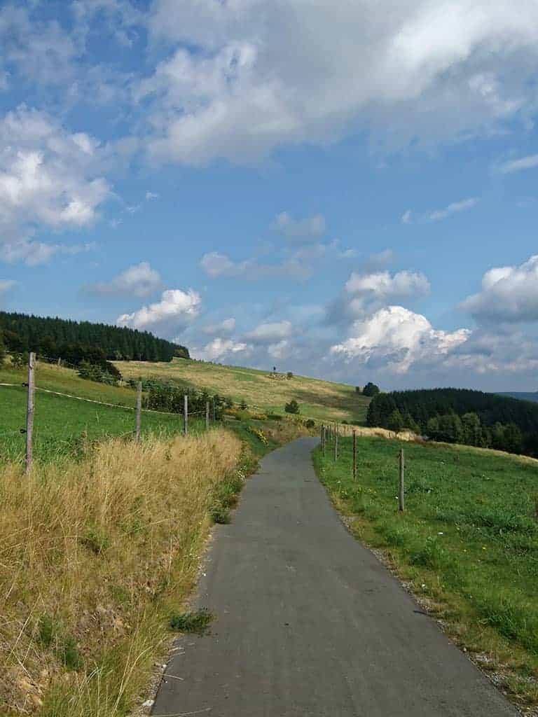 Bimmelbahnweg zwischen Cranzahl und Oberwiesenthal