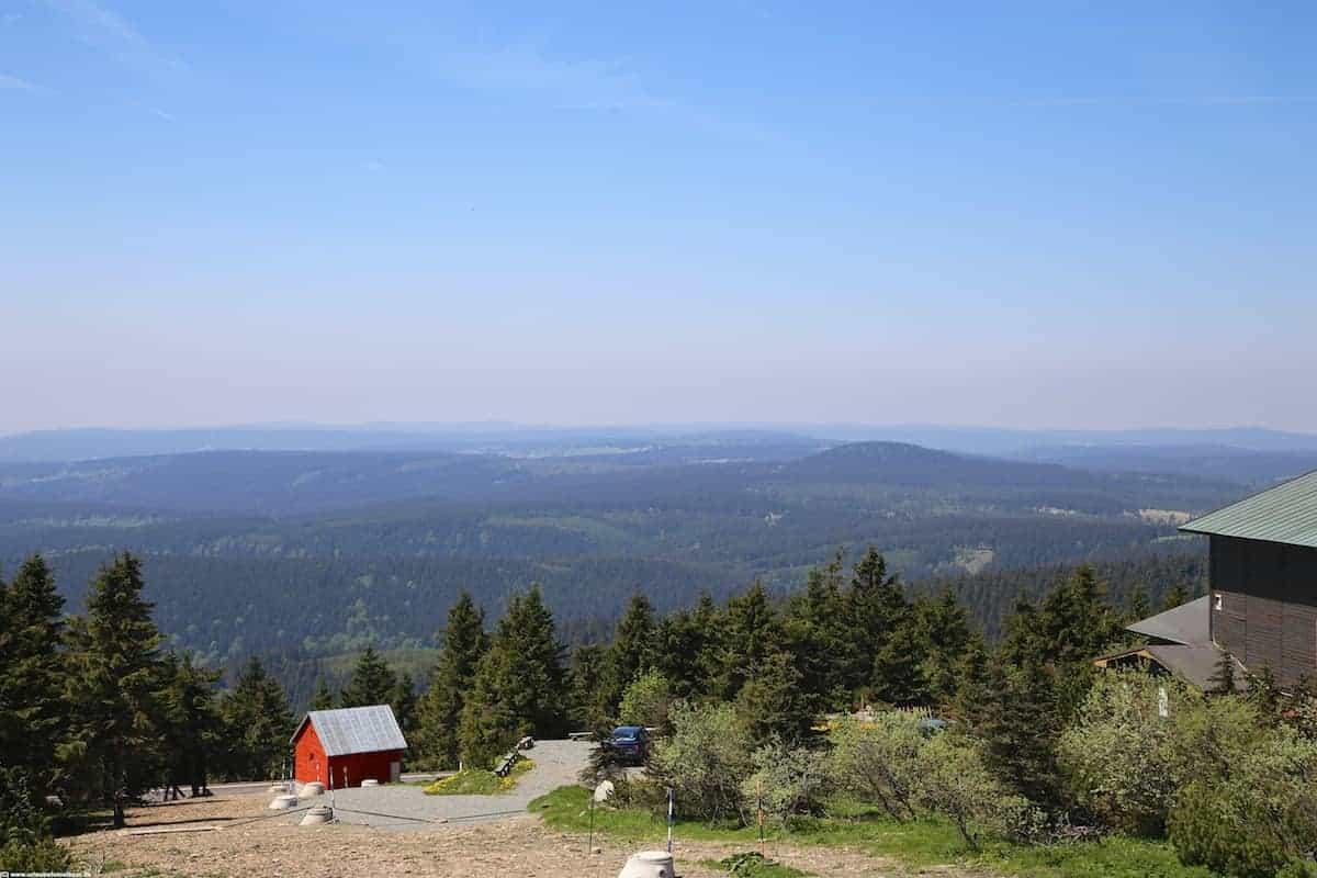 Blick vom Klinovec nach Tschechien