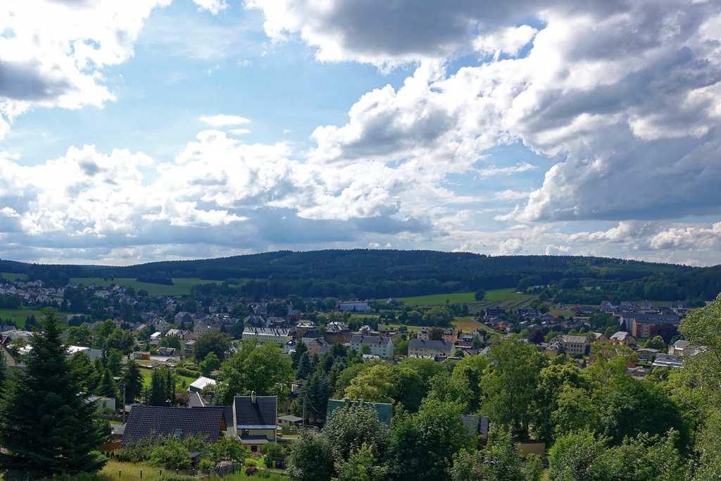 Blick vom Sauberg auf Ehrenfriedersdorf