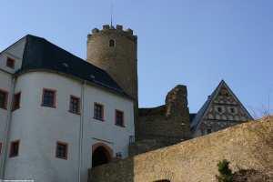 Details der Burg Scharfenstein