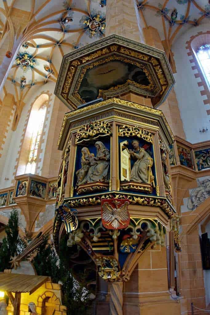 die Kanzel von Franz Maisburg in der Sankt-Annen-Kirche
