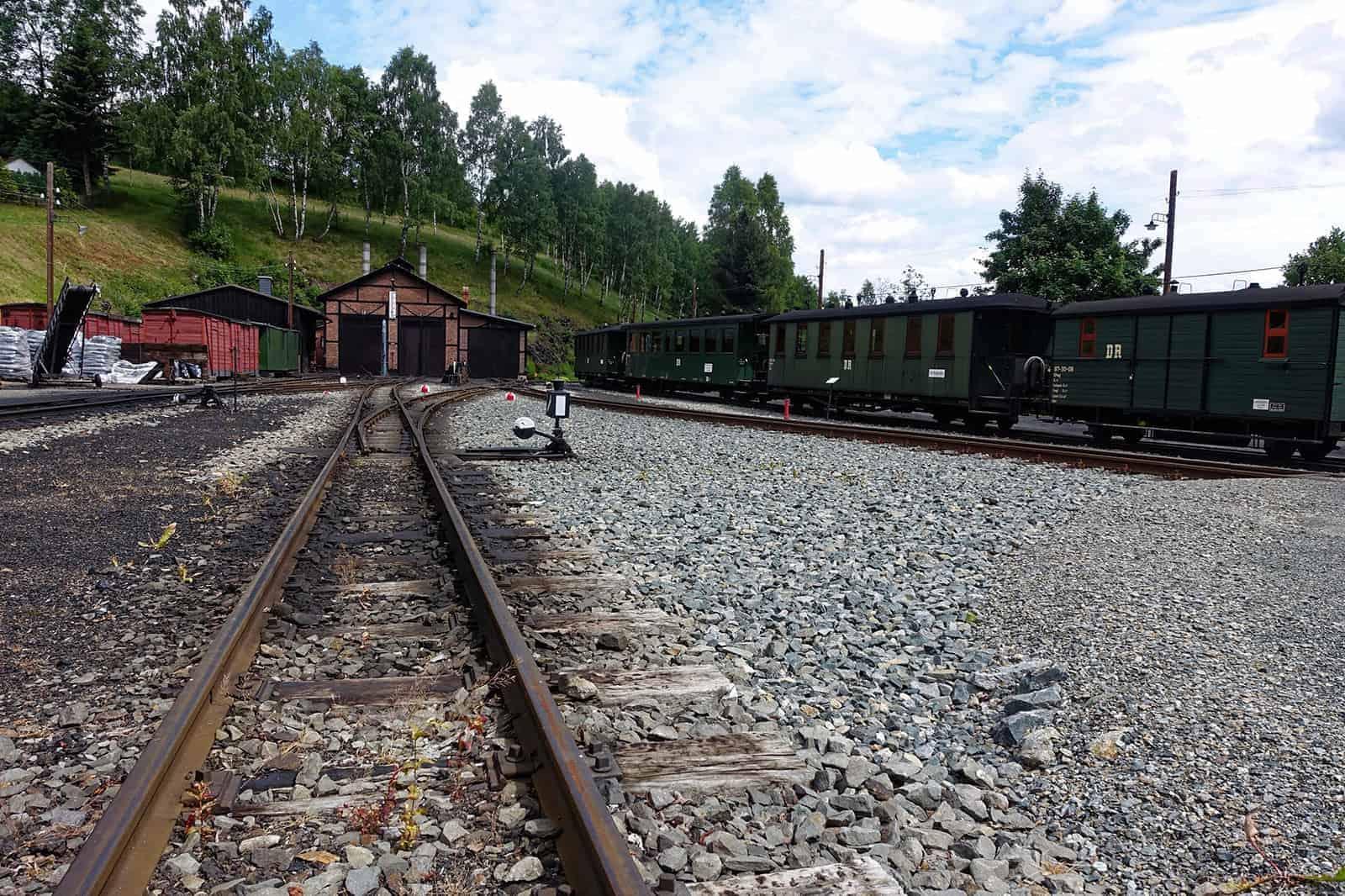 Lokschuppen der Pressnitztalbahn