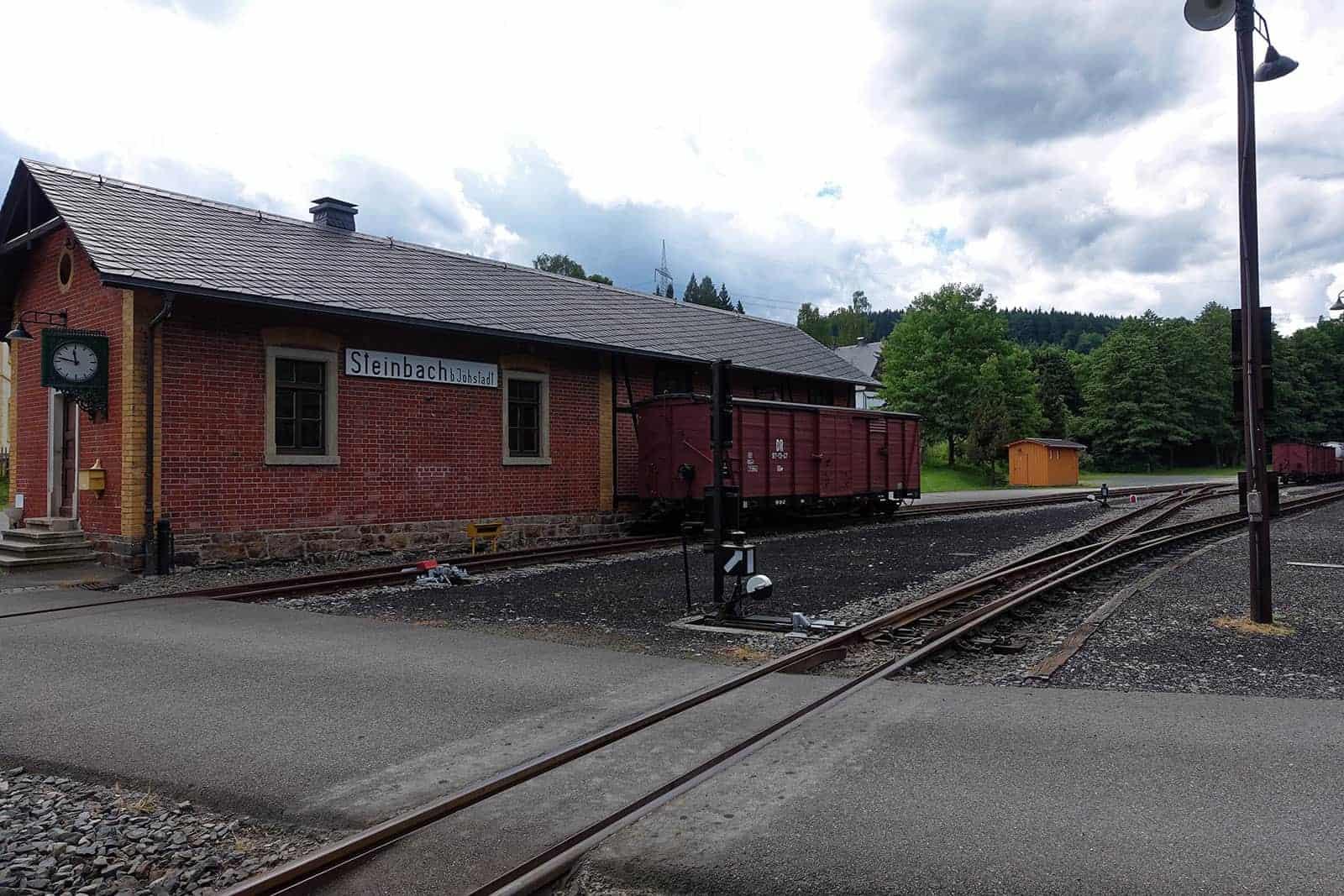 Pressnitztalbahn Zielbahnhof in Steinbach