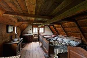 Schlafzimmer in einem Bauernhaus