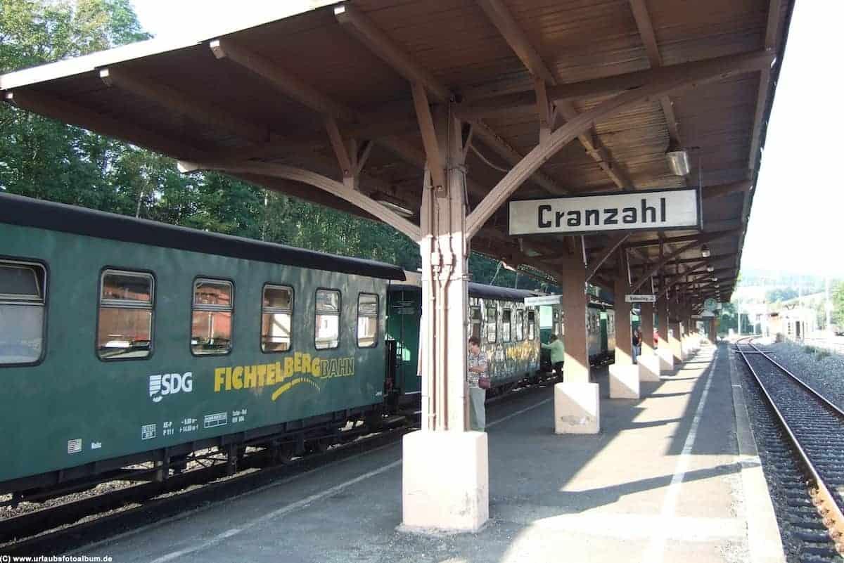 Start der Fichtelbergbahn in Cranzahl