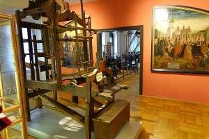 Webstuhl im Erzgebirgsmuseum in Annaberg