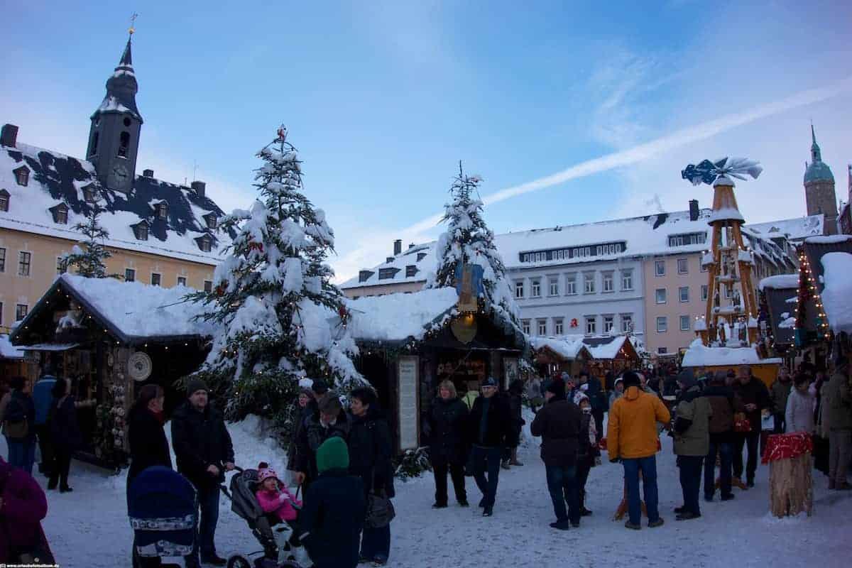Weihnachtsmärkte im Erzgebirge - Hier auf dem Annaberger Weihnachtsmarkt