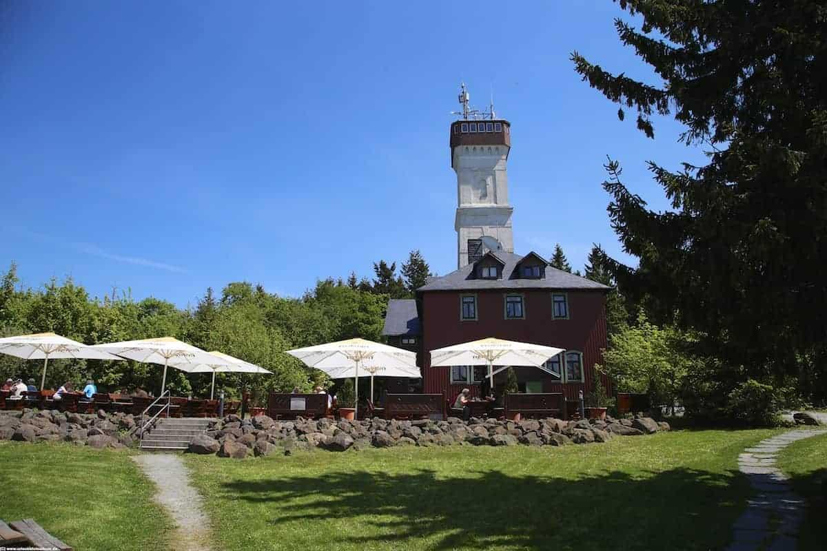 Biergarten auf dem Pöhlberg