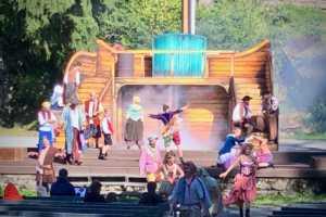 Vorführung auf der Felsenbühne Greifensteine im Erzgebirge - Naturtheater - Freilichtbühne