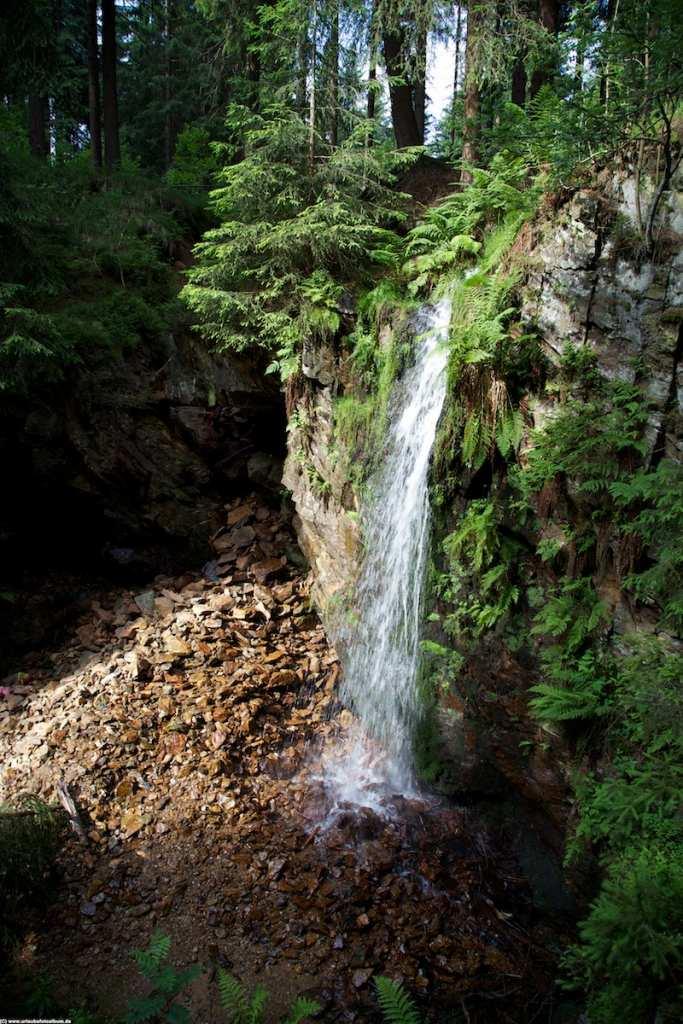 der Wasserfall in Geyer im Erzgebirge