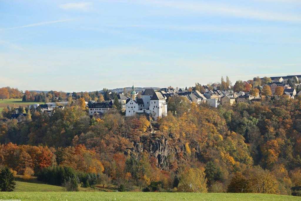 Schloss Wolkenstein im Herbst