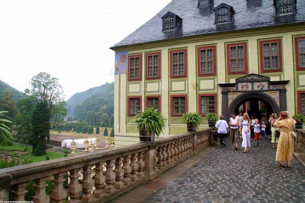 Eingang zum Schloss Weesenstein