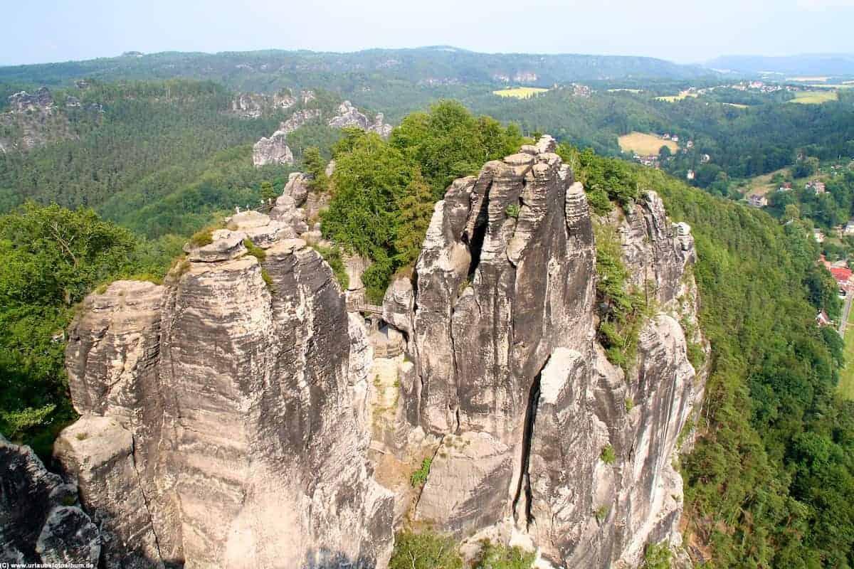 bizarre Felsformationen in der sächsischen Schweiz