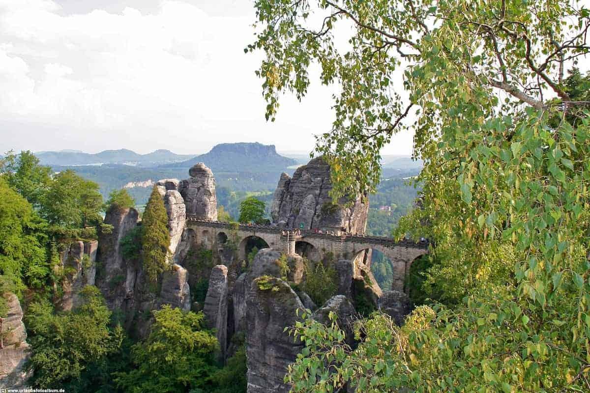 die Bastei |  Die sächsische Schweiz - das Elbsandsteingebirge