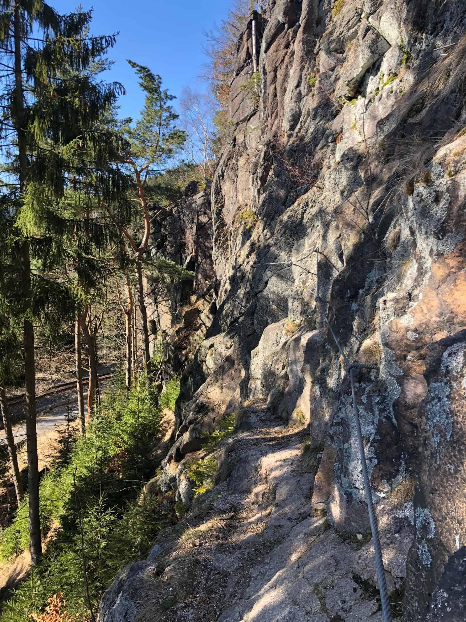 Klettersteige im Erzgebirge