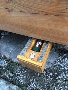 am Final eines Geocaches
